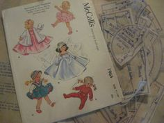 ORIGINAL Doll Clothes Pattern 1965 for 9  in Ginny Muffie Alexander Kin by Vogue