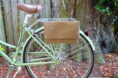 Bicycle Bag in Solid Taupe Fabric by BicycleBagShop on Etsy, $28.00