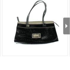 "Selling this ""UESS NEW D'Orsay Black Patent Embossed handbag"" in my Poshmark closet! My username is: carirangel. #shopmycloset #poshmark #fashion #shopping #style #forsale #Guess #Handbags"
