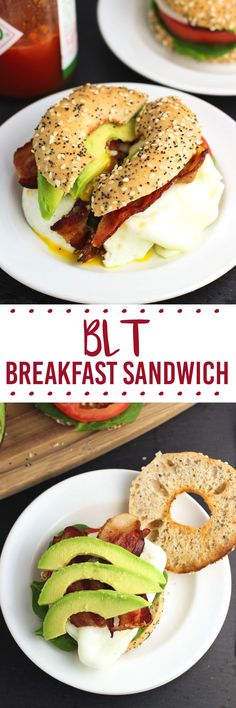 This BLT breakfast sandwich includes your favorite BLT ingredients along with an egg and creamy avocado slices. Piled high on a toasted bagel thin, it's satisfying for any meal. Even quicker to make if you have leftover bacon.