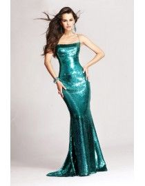 Gorgeous spaghetti sequins lace mermaid sliver black evening party prom dress  2014 TLD-020