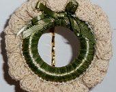 Christmas Ornament, Crochet Ornament, Zebra Ornament, Black Ornament. $6.00, via Etsy.
