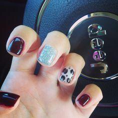 Fall nails #leopard #fall #nails #nochip #gelish