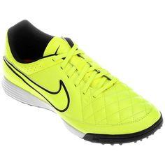 6fb6dd80328d2 Chuteira Nike Tiempo Gênio Leather TF Society - Preto e Branco