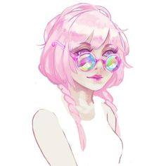 KALEIDOSCOPE GLASSES by H0les ❤ liked on Polyvore featuring fillers, anime, drawings, drawing and sketch