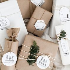 DIY Gift Wrapping Ideas Today I'm teaming up with Yully from Zoyu Design to bring you these free printable Scandinavian Christmas tags! Christmas Gift Wrapping, Christmas Presents, Holiday Gifts, Noel Christmas, Winter Christmas, Christmas Crafts, Winter Holidays, Christmas Quotes, Christmas Design