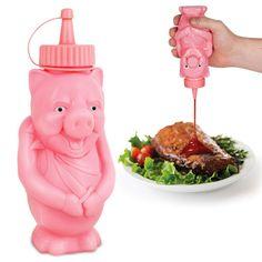BBQ Pig Condiment Bottle