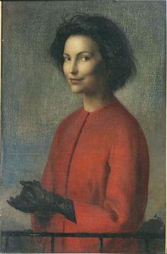 Pietro Annigoni Paints Sonja Bata,