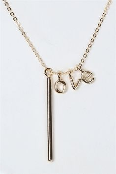 """This is so pretty and different from a lot of other """"love"""" necklaces I've seen."""