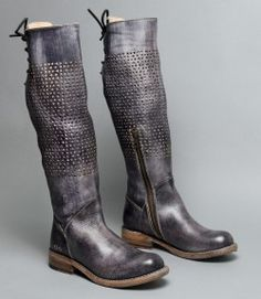 The CAMBRIDGE is a fashion boot perfect for jeans or dresses. Slouch it down for a bare leg casual look. The washed finish offers a unique vintage look. Tall Leather Boots, Tall Boots, Grey Leather, Knee High Boots, Over The Knee Boots, Ankle Boots, Leather Shoes, Bootie Boots, Shoe Boots