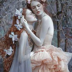 "My ""Sisters"" with @rudaanas & @clodyya models in dresses from @gosiamotas #agnieszkalorek #sisters #friends #fantasy #fairy #fairytale #elf #flowers #longhair #longdress #gown #delicate #hairstyles #ginger #youth #teenager #dimension #shoot #pastel #colours #fineart"