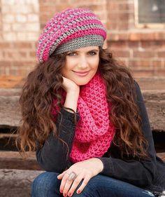 Crocheted hat, S8833 A - Pattern