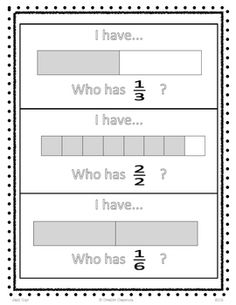I have who has fraction game