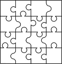 Blank puzzle: Previous pinner used it to talk about coping skills & how they combine to make a whole picture of healing. I can think of many ways to use this!