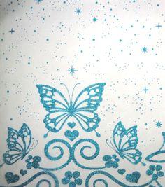 Let's Pretend Special Occasion Fabric - Folkloric Organza Border Glitter