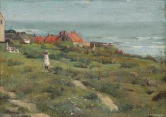 William Brymner, One Summer's Day, 1884, oil on wood, 26.7 x 37.5 cm, National Gallery of Canada, Ottawa. #ArtCanInstitute #CanadianArt