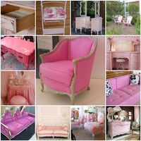 Pale Pink And Roses: Pink Saturday ~ Funky Pink Furniture