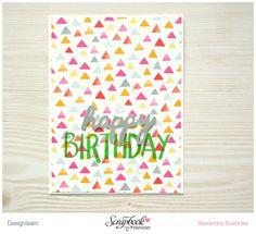 Karte Happy Birthday - Scrapbook Werkstatt Designteam - American Crafts Amy Tan Rise & Shine - designed by Alexandra Boehnke (Tandi-Works)