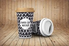 Paper Cup - Mockup. You can customize: label design, cup color, lid color, backgrounds, lights, and shadows. High quality and resolution, PSD File Included, PSD dimensions: 3000×1875px. $3 https://crmrkt.com/qVB649?u=sarahdesign #ad