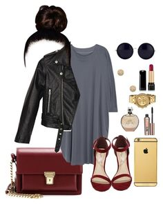 """""""Untitled #43"""" by erin-renee4 on Polyvore featuring Yves Saint Laurent, MM6 Maison Margiela, Anne Michelle, Nasty Gal, Goldgenie, Nixon, Paige Novick, JLo by Jennifer Lopez, Benefit and The Row"""