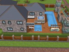 House 77 full view #sims #simsfreeplay #simshousedesign