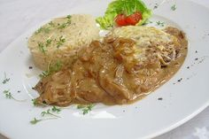 Oven - onion schnitzel from Jerchen Onion, Buffet, Pork, Food And Drink, Turkey, Meat, Chicken, Low Carb, Instagram