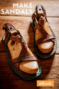 Make your own beautiful leather sandals with this sandalmaking eBook