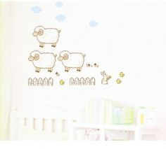 Sheep wall sticker available at www.kidzdecor.co.za. Free postage throughout South Africa