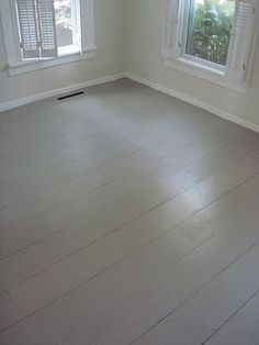 Love this plywood floor!