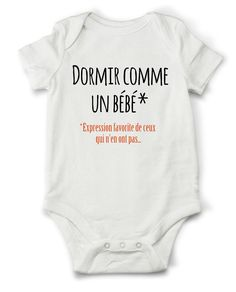 Body grenouillère dormir comme un bébé...... : Mode Bébé par creatike
