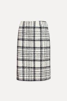 Wool pencil skirt - CRISTAL - Weill Perfect Wardrobe, Plaid Skirts, Tartan, Tweed, Most Beautiful, Pencil, Boutique, Wool, Black And White