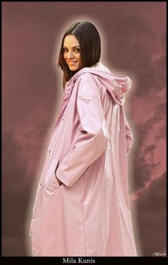 Pink Vinyl Mantel Girls Raincoat, Green Raincoat, Rainy Day Fashion, Plastic Raincoat, Pvc Vinyl, Raincoats For Women, Rain Wear, Girls In Love, Girls Wear