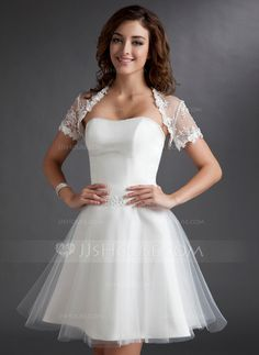 Wraps - $29.99 - Short Sleeve Lace Special Occasion Wrap (013016919) http://jjshouse.com/Short-Sleeve-Lace-Special-Occasion-Wrap-013016919-g16919