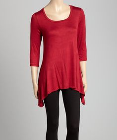 Another great find on #zulily! Red Sidetail Top #zulilyfinds