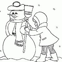 Winter coloring - free, winter, online, coloring, pages free coloring Snowman Coloring Pages, Coloring Pages Winter, Christmas Coloring Pages, Colouring Pages, Free Coloring, Adult Coloring Pages, Coloring Pages For Kids, Coloring Books, Coloring Sheets