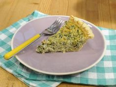 Get this all-star, easy-to-follow Five-Ingredient Spinach Dip Quiche recipe from Jeff Mauro