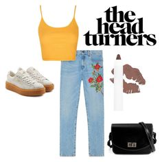 """#230. unihoe!!!"" by yvon-tani-jackson on Polyvore featuring Gucci, Topshop and Puma"