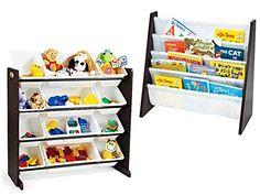 [Toy Storage Organizer] Tot Tutors Toy Organizer with 12-Piece Storage Bins and Tot Tutors Book Rack, Espresso, Bundle -- For more information, visit image link. (This is an affiliate link) #ToyStorageOrganizer