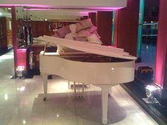 White Wilh Steinmann Baby Grand piano from Chiltern Pianos, www.chilternpianos.co.uk