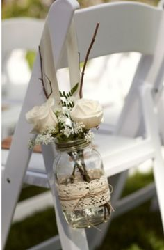 Love the jam jar and lace!!