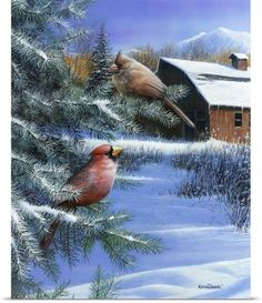 Kevin Daniel Poster Print Wall Art Print entitled A Winter Day, None