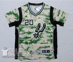 Camiseta Manga Corta 2014-15 Camuflaje San Antonio Spurs #20 Manu Ginobili  €24.9