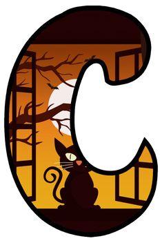 Halloween Letters, Monkeys, Candy, Holiday, Unique, Alphabet, Gatos, Letter C, Letters