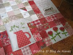 El Blog de Nieves. Labores y Punto de cruz: Red Home Natalie Bird Patchwork Quilting applique