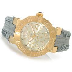 48 - Invicta Women's Angel Reef Quartz Stainless Steel Leather Strap Watch