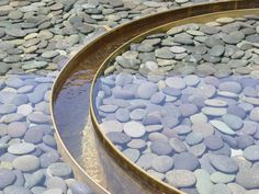 Bronze, Weirs, Water upwelling pools & common weir   Woodside Residence, Cathy Schwabe, AIA