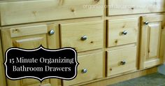 31 Days of 15-Minute Organizing: Day 7 - Bathroom Drawers, by Organize and Decorate Everything