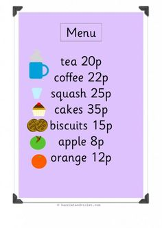 Food Menu H Early Years (EYFS), KS1, KS2, Primary & Secondary School teaching help, ideas and free teaching resources for the classroom. We love sharing free teaching resources!