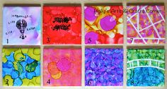 Part 1 of our alcohol ink tiles.