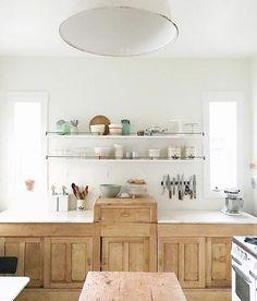 white + wood + shelving